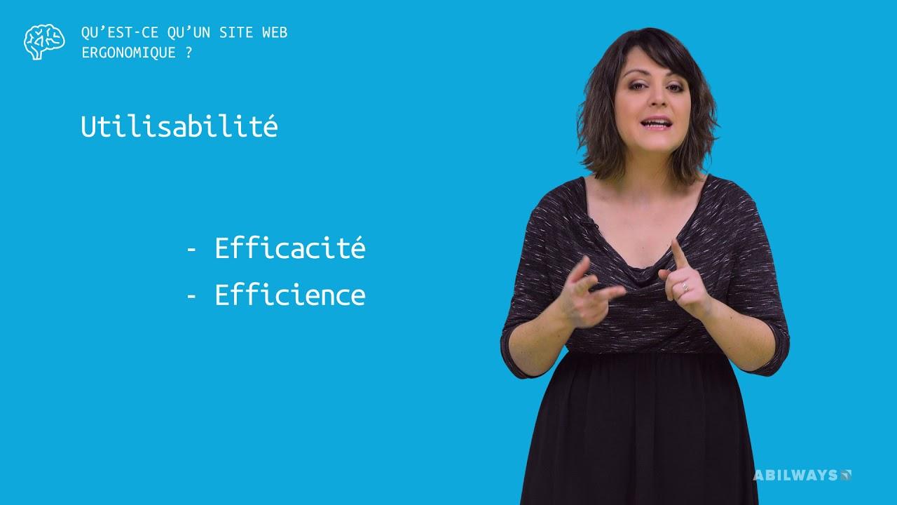 site web ergonomique