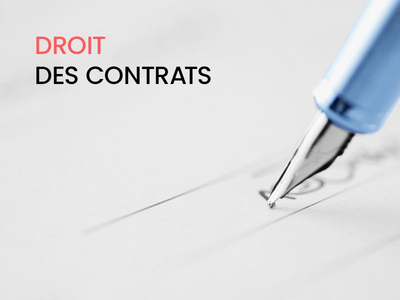 Le droit des contrats, ça s'apprend